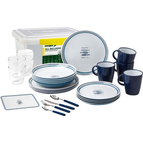Brunner All Inclusive Dishes Set 36+1 Pieces, wit/blauw
